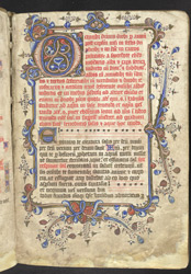 Illuminated Initial and Border, in a Manual f.9r